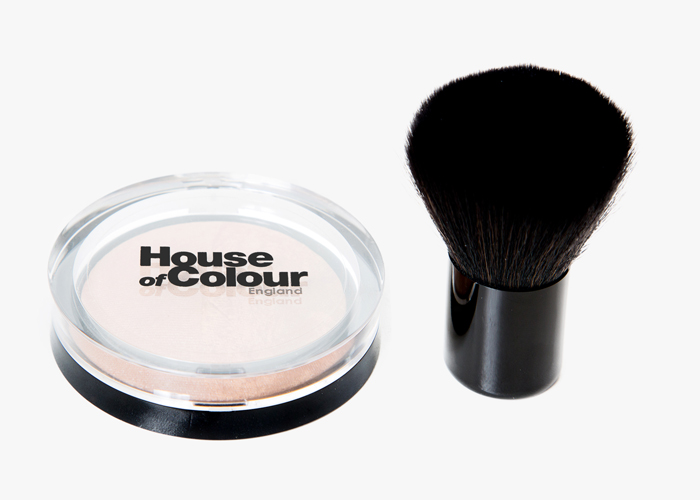 Bronzer and kabuki brush
